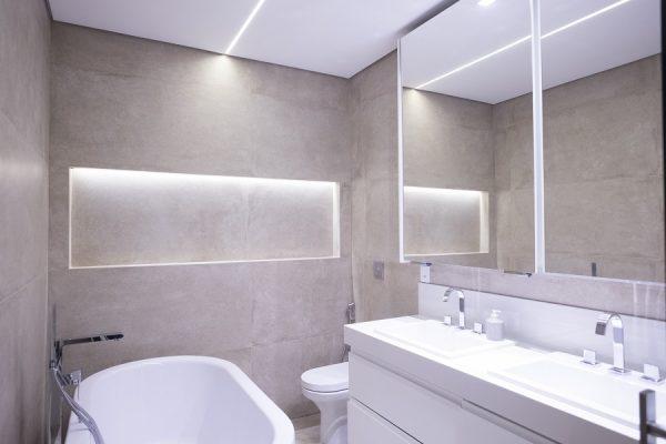 Iluminação para banheiros